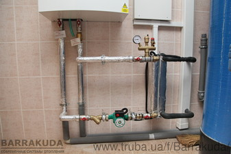 2016 год. Дом 300 кв.м. Модернизация системы отопления - установка воздушного теплового насоса 14 кВт. Теплообменник фреон - вода — Барракуда - Современные системы отопления