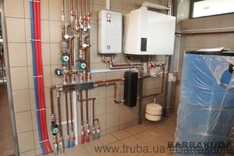 Система отопления с экономичным конденсационным котлом BUDERUS 42 кВт(Германия), с погодозависимой теплогенерацией — Барракуда - Современные системы отопления