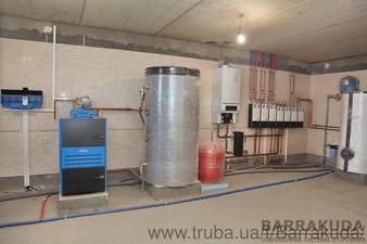 Дом 320 кв.м. Cистема отопления на конденсационном котле BUDERUS 65 кВт и дублирующем пиролизном котле Buderus 38 кВт, с автоматическим переключением — Барракуда - Современные системы отопления