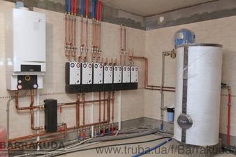 Дом 320 кв.м. Система отопления на конденсационном котле BUDERUS 65 кВт и дублирующем пиролизном котле Buderus Logano 38 кВт, автоматизация управления — Барракуда - Современные системы отопления