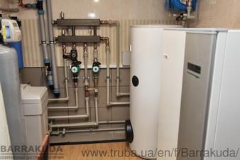 2016 год. Дом 250 кв.м, модернизация системы отопления с установкой теплового насоса NIBE (Швеция) 12 кВт, четыре геотермальные скважины по 60 м. — Барракуда - Современные системы отопления
