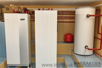 2015 год. Дом 350 кв.м, модернизация системы отопления - замена газового котла на тепловой насос. Система отопления, на тепловом насосе NIBE (Швеция) — Барракуда - Современные системы отопления