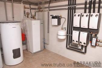 2016 год. Дом 350 кв.м. Экономичная система отопления, на геотермальном тепловом насосе NIBE (Швеция) 16 кВт, с 5 геотермальными скважинами по 65 м. — Барракуда - Современные системы отопления