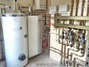 2016 год. коттедж 350 кв.м. Система отопления, на геотермальном тепловом насосе NIBE (Швеция) 16 кВт, с пассивным охлаждением, сменой трех теплогенера — Барракуда - Современные системы отопления
