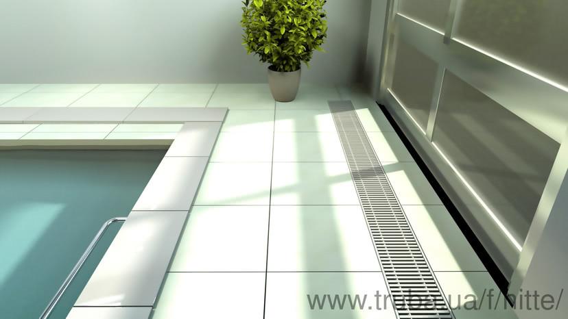 Внутрипольный конвектор Хитте для влажных помещений