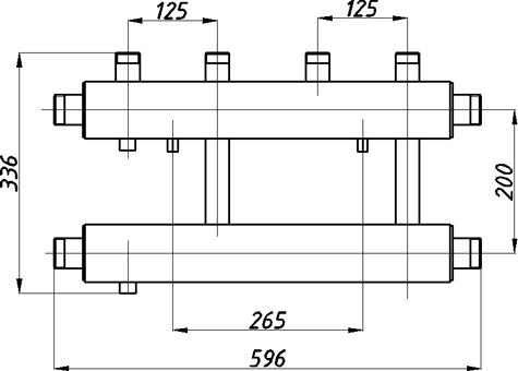 Коллектора для котельных с выводами вверх СК-212.125