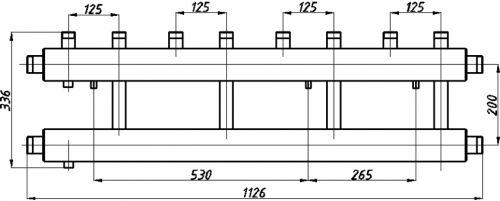 Коллектора для котельных с выводами вверх СК-412.125
