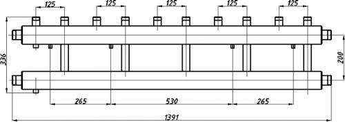Коллектора для котельных с выводами вверх СК-512.125