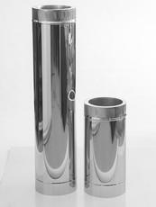 Сэндвич труба для дымохода из нержавеющей стали снаружи оцинковка диаметр 150/220 0,6/0,6мм AISI 430