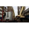 Модульная пеллетная котельная мощностью 100кВт доставлена на объект в Киеве