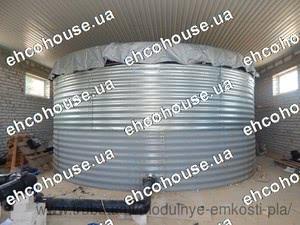 Модульная емкость 100 м 3 (100 кубов, 100 метров кубических) для воды, для жидких удобрений КАС, для пожарного запаса. — ЭКОХАУС