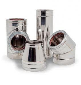 Двухстенные дымоходы труба 115 для дымохода