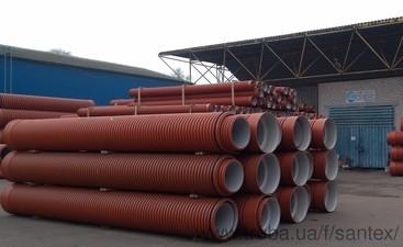 Трубы Инкор (Incor), d от 160мм до 1000мм, SN8 двухслойная гофрированная для канализации — Сантэкс