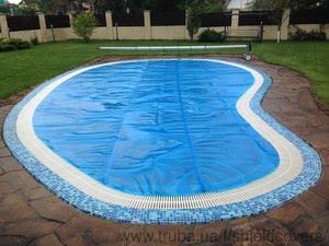 Установлено летнее накрытие и сматывающее устройство на переливной бассейн — Шилд Украина