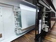Фальшплинтус Термия (без отопит. элемента, белый/коричневый), 1 метр