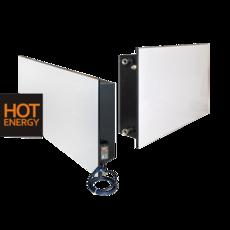 Керамические водяные конвекторы HotEnergy УК-900/500 с дополнительным электрообогревом 450х900х100 мм
