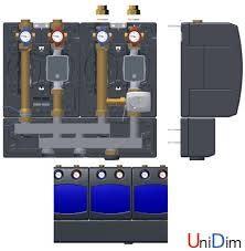 Насосные модули WATTS PASM25 со смесителем для теплого пола