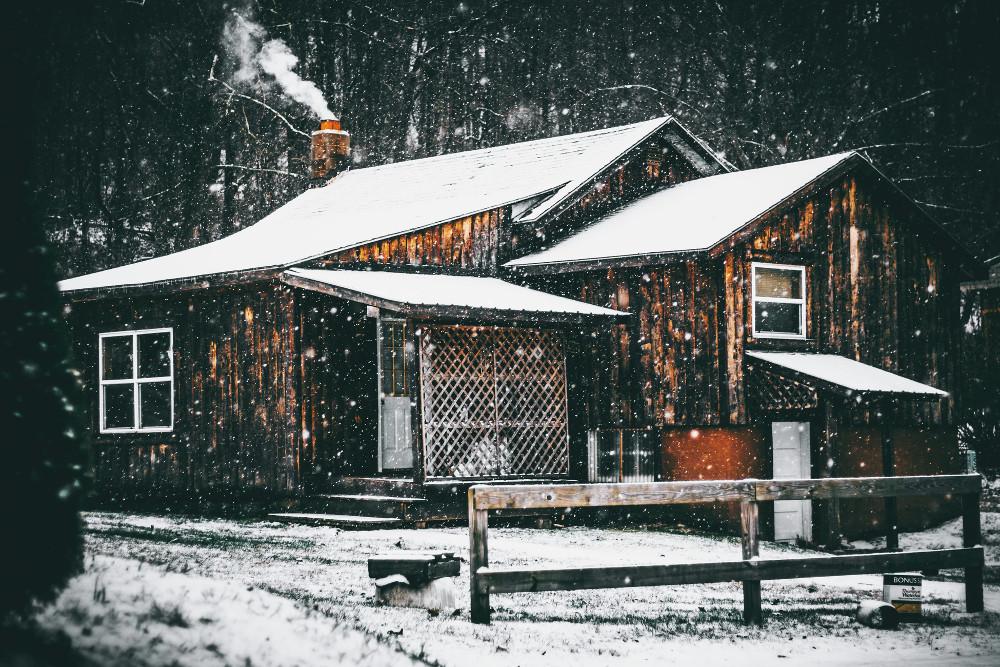 Заснеженной дом