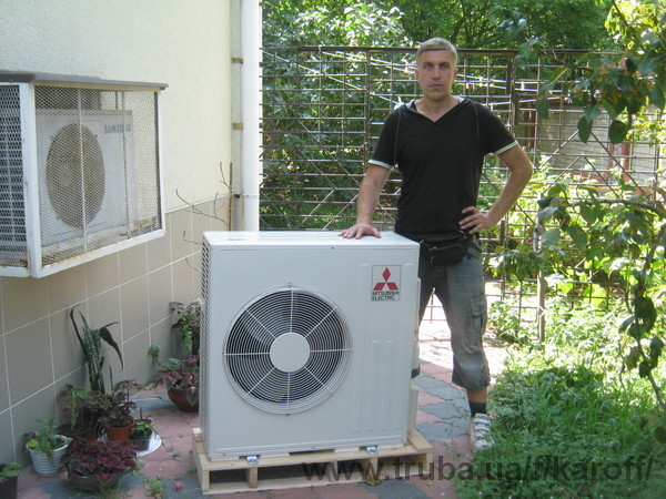 Установлен тепловой насос Mitsubishi Electric ZUBADAN