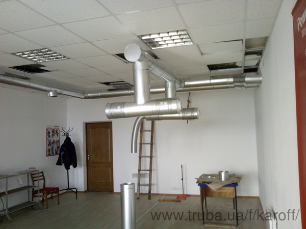 Реализована вентиляция цеха на заводе им. Шевченко