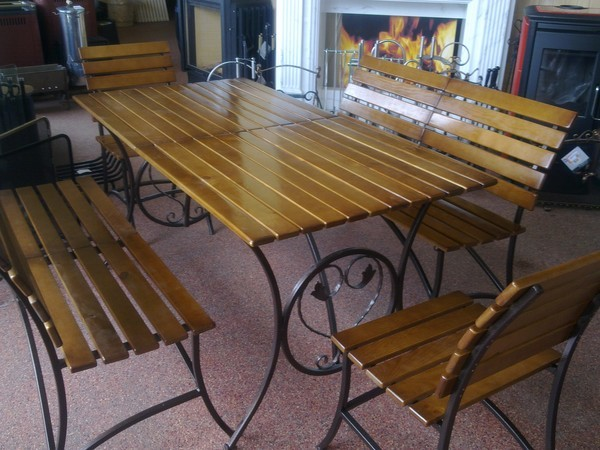 Скидка 20% на кованую мебель для сада