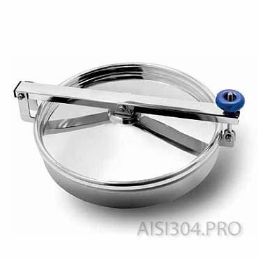 Пополнение склада: люк круглый нержавеющий под давление и без 500 мм
