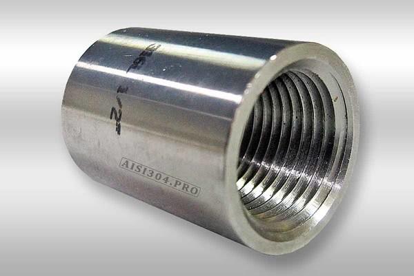 Пополнение склада: муфта прямая нержавеющая с внутренней резьбой всех диаметров!
