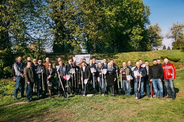 В Ботаническом саду Киева открыт «Сквер Инсталляторов REHAU»