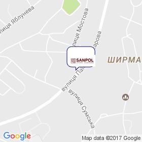 Санпол Украина на карте