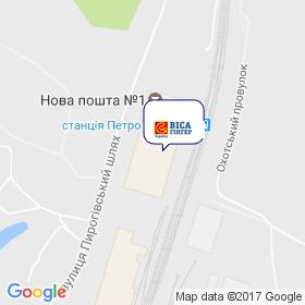 Виса-Гингер Украина на карте