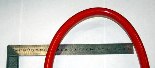 Изгиб PEX трубы диаметром 20 мм на радиус 100 мм
