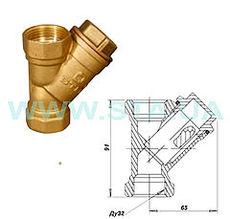 Фильтр для воды Ду32мм латунный