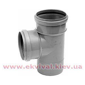Трійник каналізаційний пластиковий D32-110мм