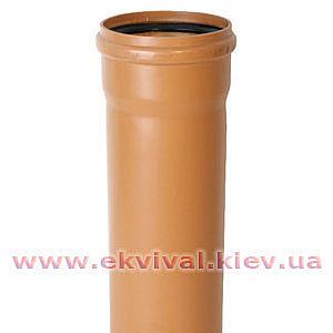 Труба каналізаційна пластикова D110мм, 2м