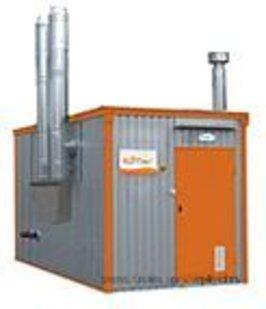 контейнерная котельная на твердом топливе