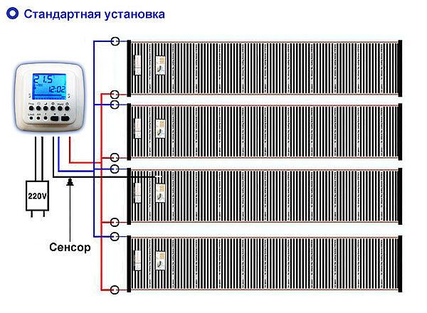 Схема подключения теплого пола.
