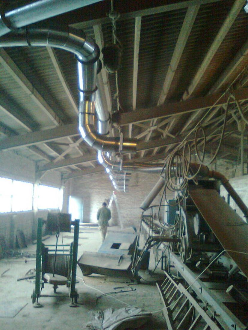Надсилосный этаж элеватора цепь на конвейер
