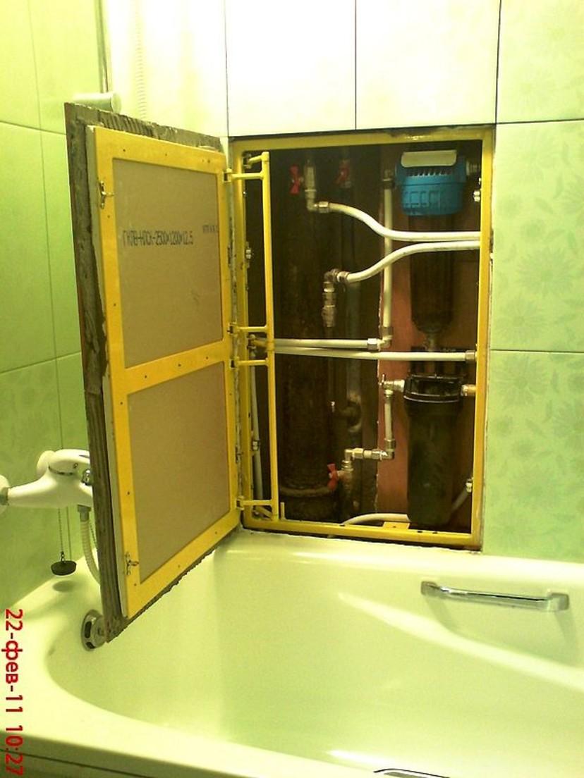 Как сделать дверцу в туалете для доступа к стояку своими руками 56