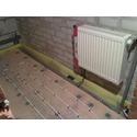 Теплый пол + установка радиатора