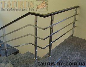 Перила из нержавеющей стали c деревянным поручнем от TAURUS TM — TAURUS TM