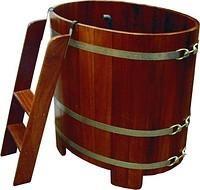Деревянная Бочка купель для бани 122х72